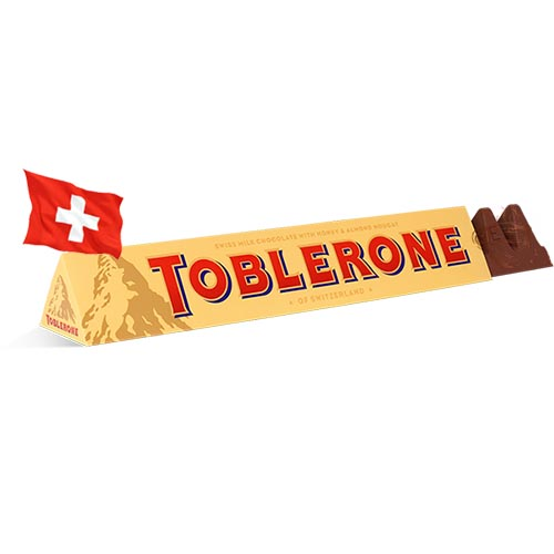 Шоколад молочный с миндалем Toblerone 100g Швейцария