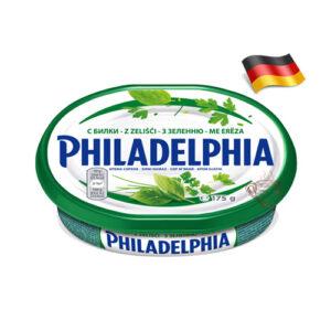 Сыр сливочный Philadelphia с зеленью 175г Германия