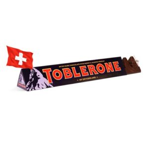 Шоколад черный с мендалем Toblerone 100g Швейцария