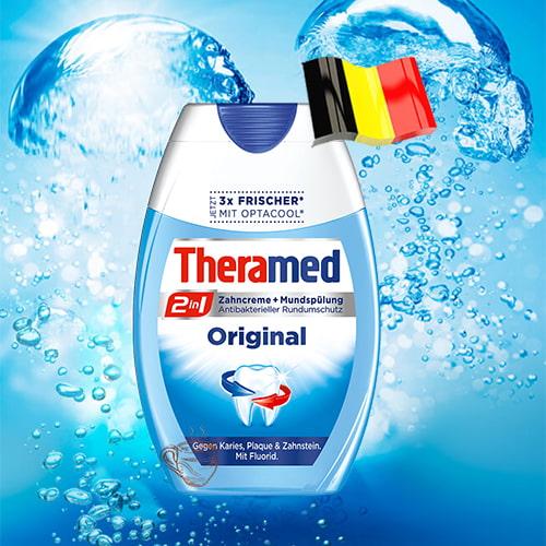 Зубная паста-ополаскиватель Theramed Original 2в1 75мл Германия