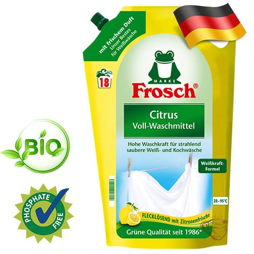 Эко гель для стирки светлых вещей Frosch Лимон 1,8л Германия