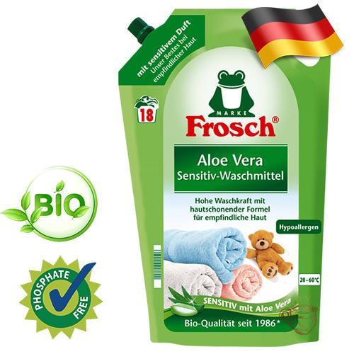 Эко гель для стирки цветных вещей Frosch Sensitive 1,8л Германия