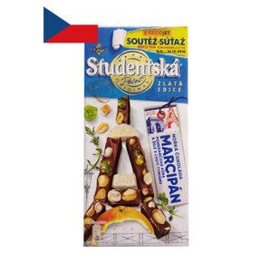 Шоколад молочный марципан с тимьяном Studentska Pecet 170 г Чехия