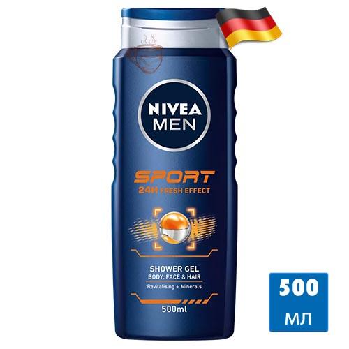 Гель для душа Nivea Men Sport 500мл Германия
