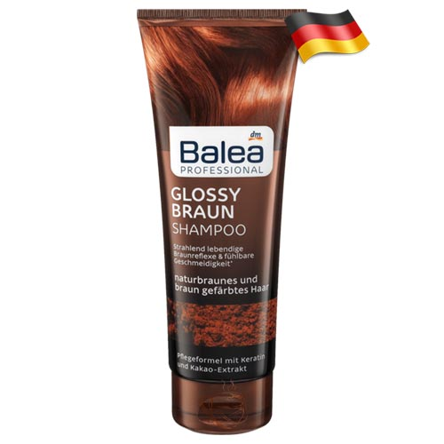 Профессиональный шампунь для коричневых волос Balea Glossy Braun 250 мл Германия