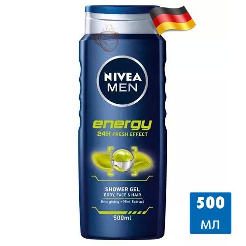 Гель для душа Nivea Men Energy 500мл Германия
