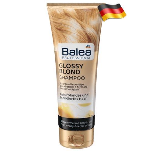 Профессиональный шампунь для светлых волос Balea Glossy Blond 250 мл Германия