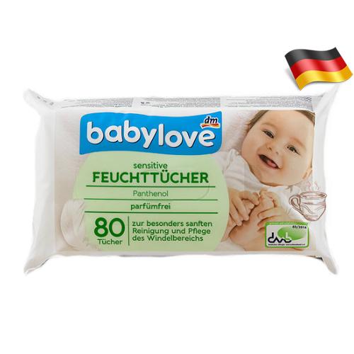 Влажные салфетки с пантенолом BabyLove 80шт Германия