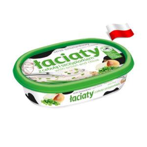 Сыр сливочный с луком и зеленью Laciaty 135г Польша