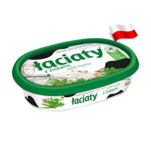 Сыр сливочный с зеленью Laciaty 135г Польша
