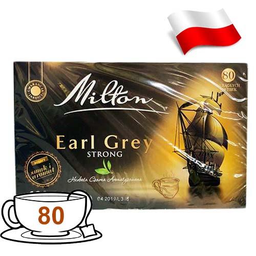 Чай черный с бергамотом Milton Earl Grey 80 пакетов Польша