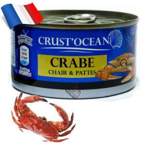 Краб консервированный Crust Ocean 200г Франция