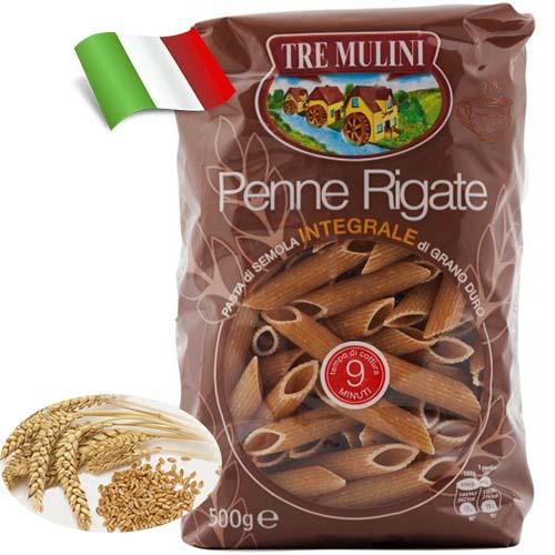 Макароны из цельного зерна Tre Mulini перья 500 г Италия
