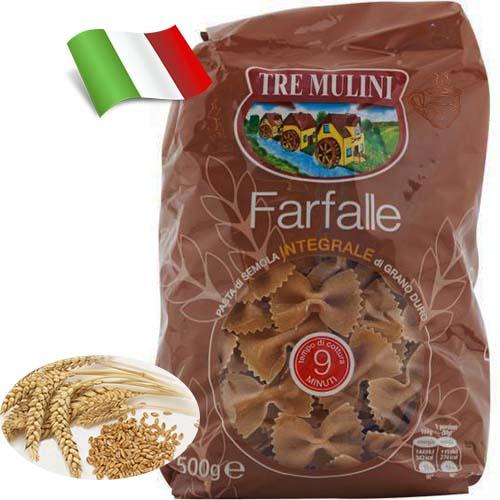 Макароны из цельного зерна Tre Mulini бабочки 500 г Италия