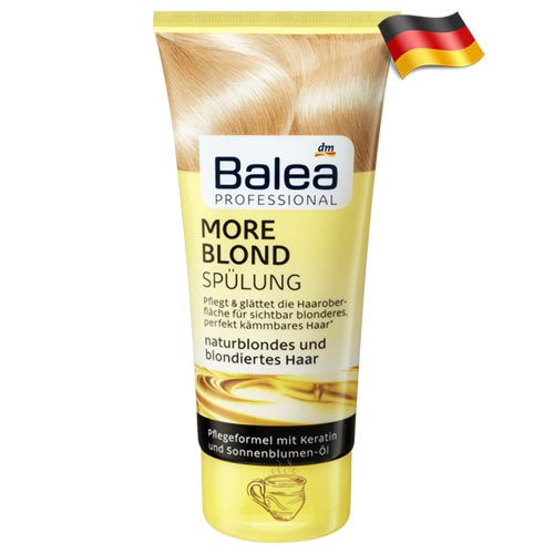 Профессиональный кондиционер для блондинок Balea More Blond 200мл Германия