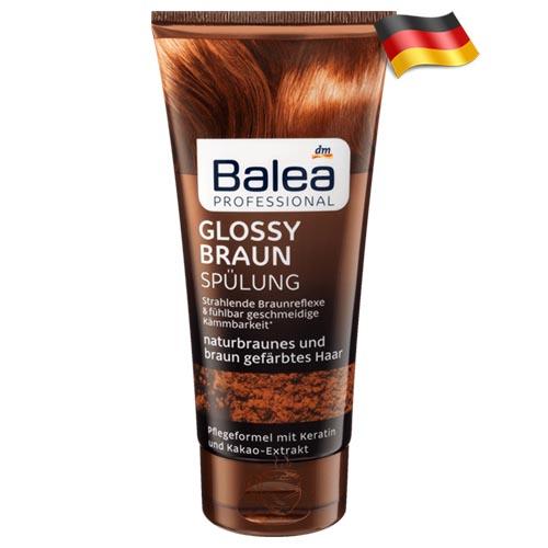 Профессиональный кондиционер для коричневых волос Balea Glossy Braun 200мл Германия