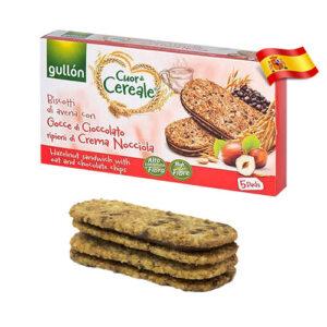 Злаковое печенье с ореховой начинкой Gullon 220g Испания