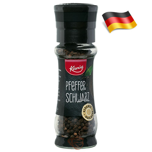 Специи мельница черный перец горошком Kania Pfeffer Schwarz 50г Германия