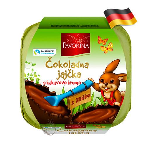 Пасхальные шоколадные яйца 4шт Favorina 144г Германия