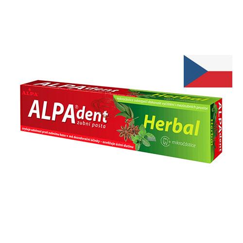 Лечебная зубная паста на травах Alpa Herbal 90г Чехия