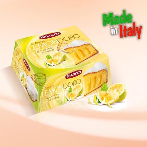 Кекс пасхальный Balocco с лимонно-лаймовым кремом 750г Италия