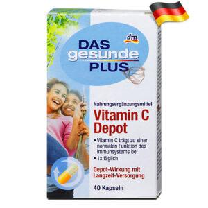 Витамин С с функцией хранилища Das gesunde plus Vitamin C Depot 40шт Германия