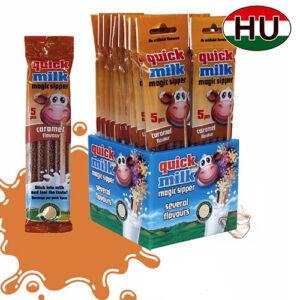 Трубочки для молока Quick Milk Карамель 100шт Венгрия
