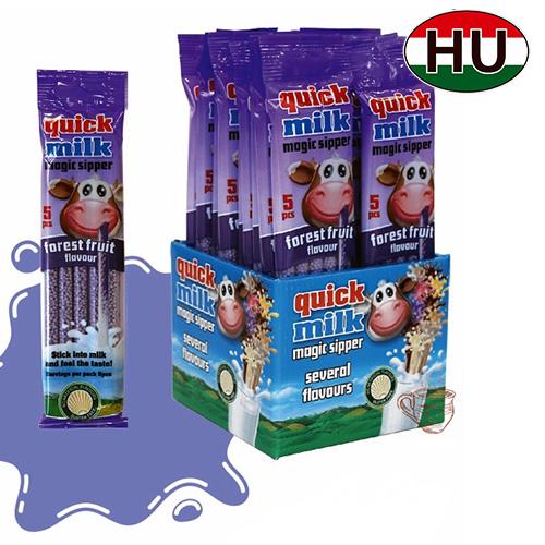Трубочки для молока Quick Milk Лесные Фрукты 100шт Венгрия