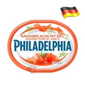 Сыр сливочный Philadelphia с лососем 175г Германия