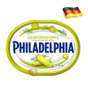 Сыр сливочный Philadelphia с огурцом 175г Германия