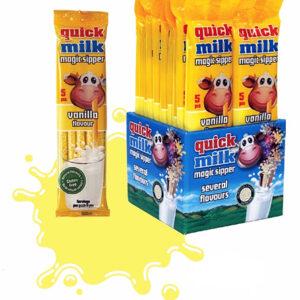 Трубочки для молока Quick Milk Ваниль 5 шт Венгрия