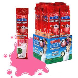 Трубочки для молока Quick Milk Клубника 5 шт Венгрия
