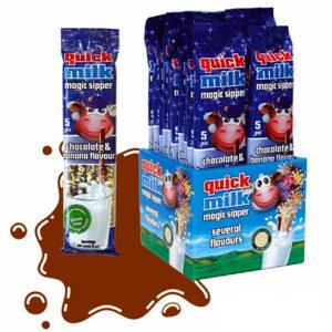 Трубочки для молока Quick Milk Шоколад-Банан 5 шт Венгрия
