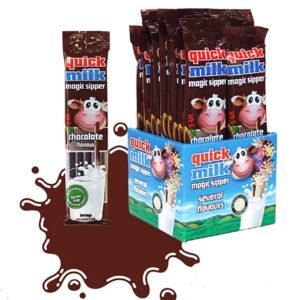 Трубочки для молока Quick Milk Шоколад 5 шт Венгрия