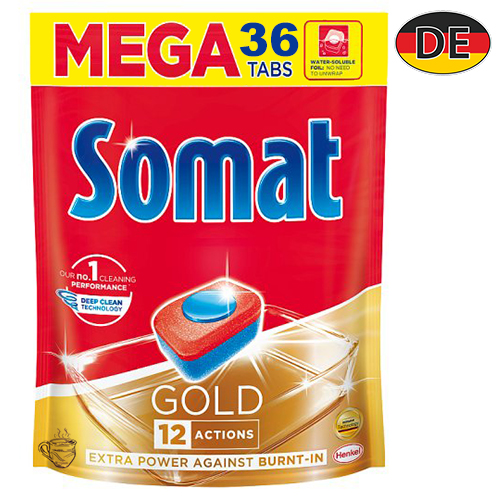 Таблетки для посудомоечной машины Somat Gold 36 шт Германия