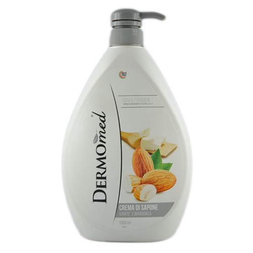 Крем-мыло для рук Dermomed Миндаль 1000 мл Италия