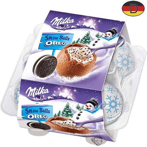 Новогодние яйца с начинкой из крема 4 шт Milka Oreo 112 г