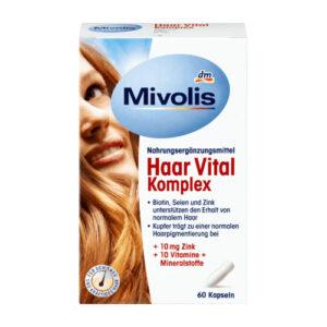 Комплекс минералов и элементов для волос Das gesunde plus Vital 60шт Германия