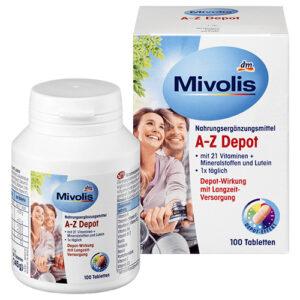 Комплекс минералов и витаминов Mivolis A-Z 18+ в таблетках 100 шт Германия