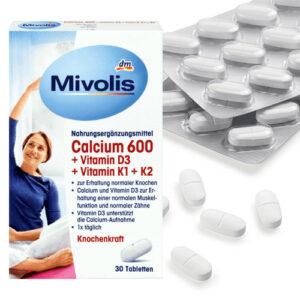 Комплекс для костей Кальций 600 витамин D3 и K 30 шт