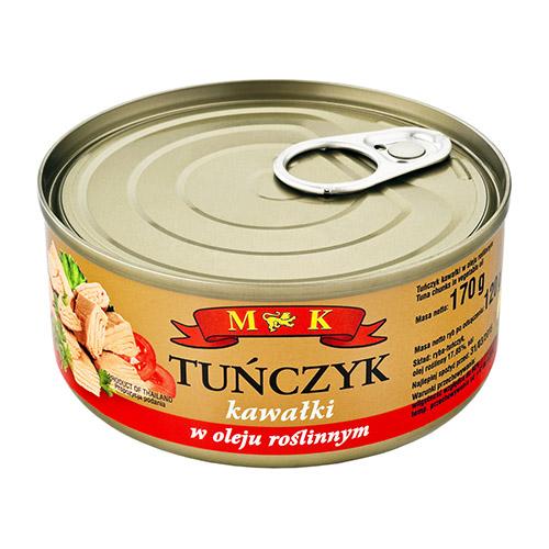 M&K Tuńczyk-kawałki-w-oleju-170g